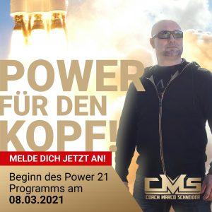 Power21 - Power für den Kopf ab dem 08.03.2021